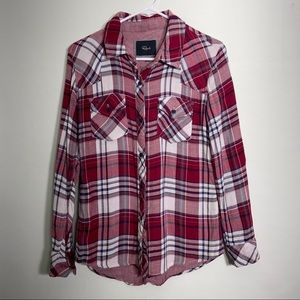 Rails red plaid flannel shirt  size small